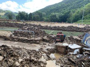 Der Sportplatz ist des SV Blau-Gelb Dernau nach der Hochwasserkatastrophe